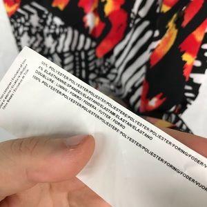 Joseph Ribkoff Dresses - JOSEPH RIBKOFF printed faux wrap dress ruffle AA15